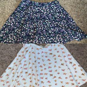 Dresses & Skirts - DEAL!! 2 SMALL FLOWER PATTERN SKATER FLARE SKIRTS!